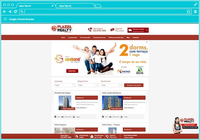 Agencia de Marketing Digital em Sp Criação de Loja Virtual Plazza Realty